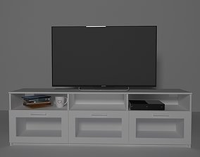 3D model IKEA TV Stand Brimnes collection