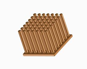 Copper Pin Heat Sink 3D print model hobby-diy
