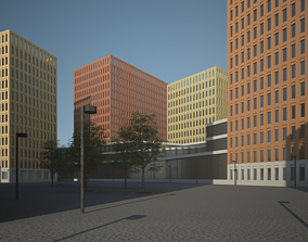 3D model City Block boulevard