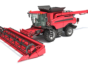 Combine Harvester 2020 3D model forage