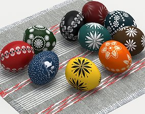 Easter eggs 3D asset game-ready