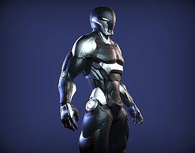 3D Sci-Fi Cyber Ninja
