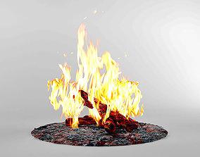 3D model Bonfire Fireplace