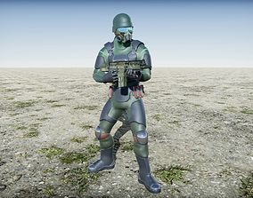 3D model Riot Trooper Rigged Animated