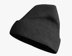 Winter hat 3D model realtime