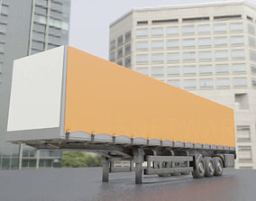 3D Semitrailer High-Poly Version