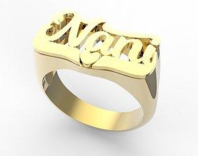 3D print model Nami name ring