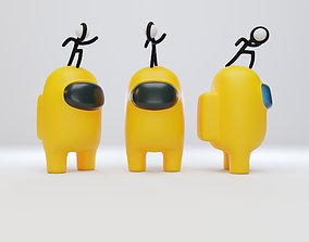 Among Us Stickmin Figure Character 3D model