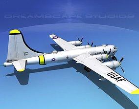 Boeing B-50 Superfortress V06 3D model