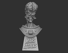 3D printable model Mars Attacks bust