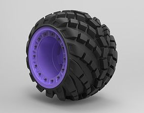 3D model Arched offroad wheel
