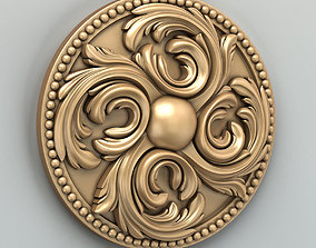 3D model Round rosette 019 onlay