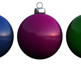 3D model Christmas balls