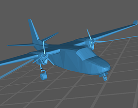 3D printable model Twin Commander AC 1000 695 A B Low