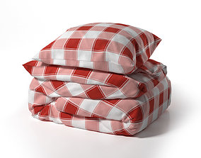 DUVET WITH PILLOW 3D model covering