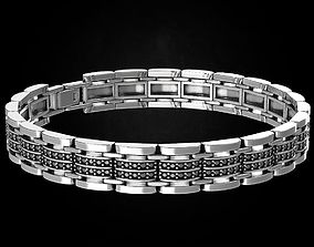 Stylish bracelet with stones of any 3D printable model 1