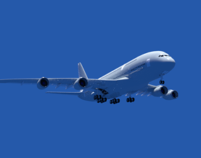 Airbus A380 passenger 3D model