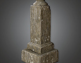 3D asset CEM - Grave Stone Cemetery 34 - PBR Game Ready