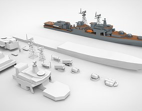 Battle ship military 3d printing