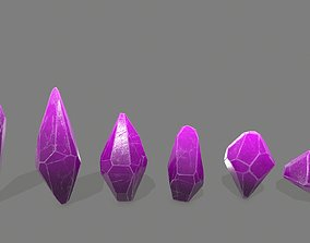 3D asset crystal set 1