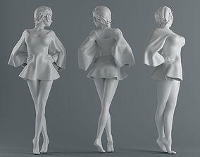 Women wear skirts 002 3D printable model