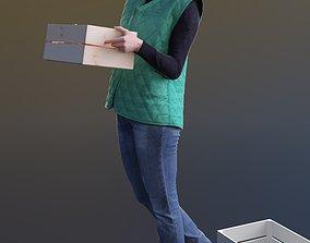 3D asset Anna 10139 - Walking Warehouse Woman