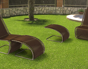 garden Lounge Chair 3D model