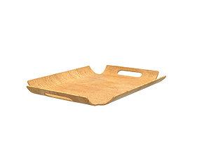 Wooden tray 3D model squaretray