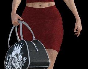 Muscular mature woman 3d print model