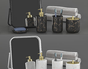 3D Bathroom accessories in Loft style 2