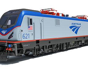3D Amtrak Electric Locomotive wagon