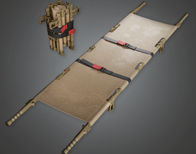 Military Cot Bed - GEN - PBR Game Ready 3D asset
