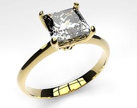 engagement ring princess 3D print model