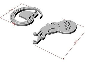 3dzodiac 3D printable model Aquarius pendant