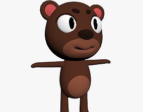 Cartoon Bear Character 3D model