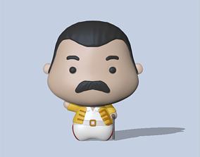 statue 3D print model Freddie Mercury