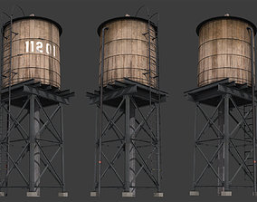 New York Water Tank 3D asset game-ready