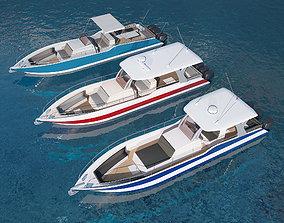 Motorboats asset pack 3D yacht