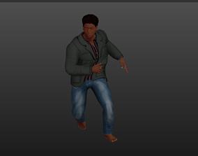 Young African man 3D asset