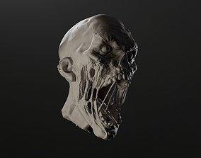 Zombie Head Sculpt 1 3D model