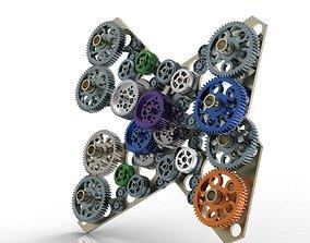 3D model Gear mechanism v 5