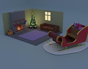 Christmas set 6 items 3D model