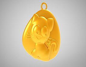 Rock Cat Necklace 3D printable model