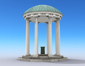 3D asset low-poly Old Well