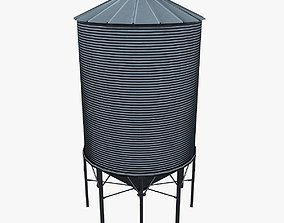 3D model Grain silo