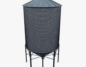 3D asset realtime Grain silo