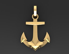 captain Anchor Pendant 3D printable model