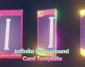 Infinite Background NFT Card Template - 3D asset 2