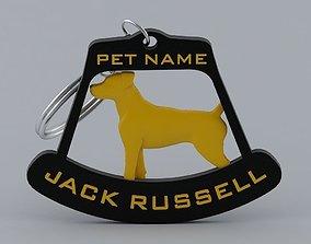 Jack Russell Terrier keychain 3D print model