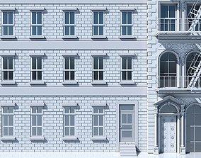 3D model Commercial Building Facade 01